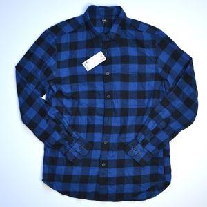 Uniqlo Plaid Flannel Button Down Shirt NWT